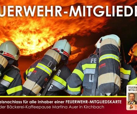 Bäckerei-Kaffeepause Martina Auer - 5% für Feuerwehrmitglieder