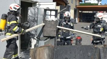 Brand der Speicherbatterien einer Photovoltaikanlage