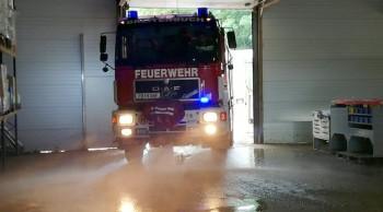 Schwere Unwetter in Breitenfeld an der Rittschein - KHD Zug wurde angefordert