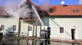 Brand am Heiligen Abend in Kirchbach