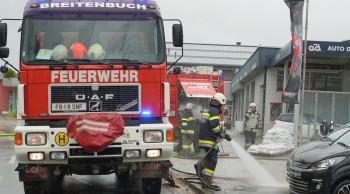 Hochwassereinsatz bzw. Straßenreinigung in Seibuttendorf